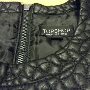 Topshop quilted vegan leather top
